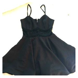 Black Homecoming Party Dress